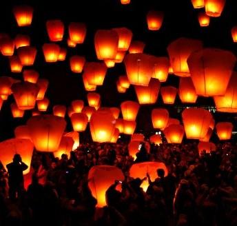 Létající lampiony Štěstí- Létající přání