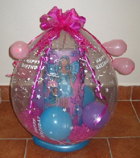 Birthday And First Winnie The Pooh In Balloon Gift Wrap Barbie Mariposa