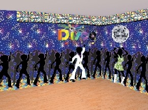 Disco party supplies and decorations