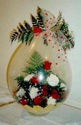 Květiny v Balonku, Dárkové Balení v Balonku