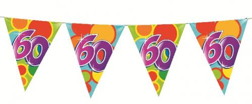 60th Birthday Flag Banner