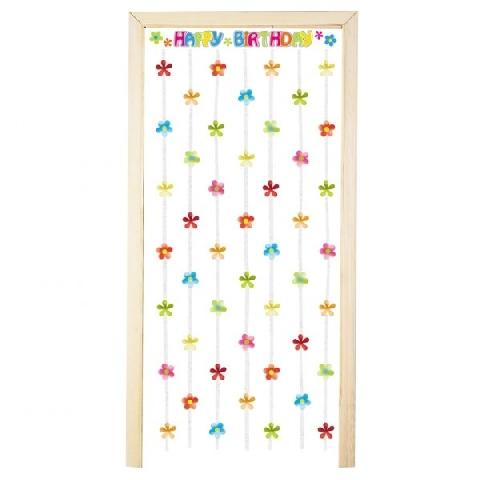 Birthday door curtain