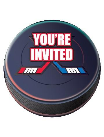 Hockey birthday invitations Pro Party