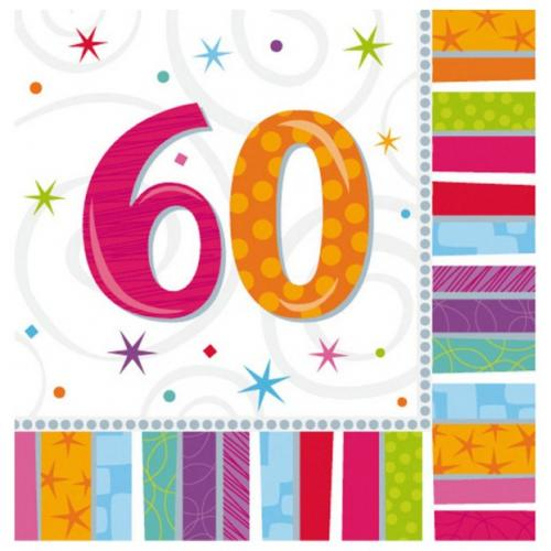 60th Birthday Lunch Napkins